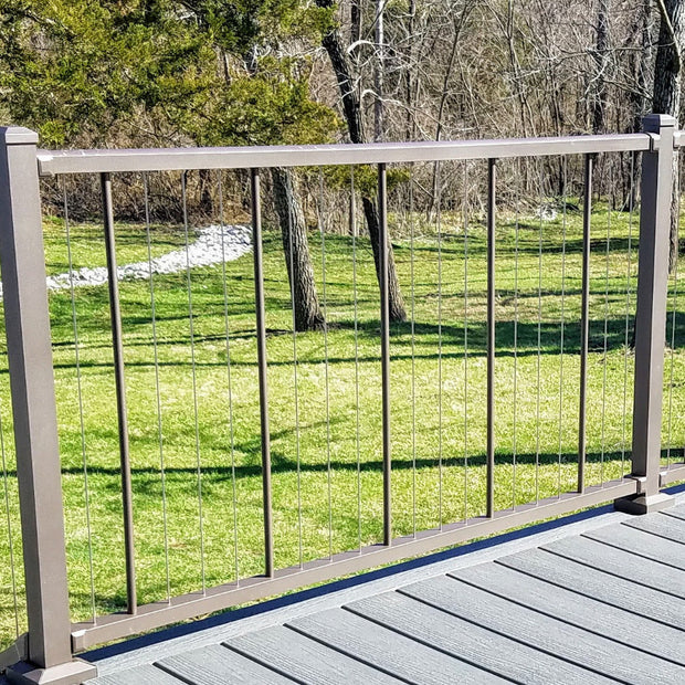 Level Bronze Rail Kit 36 in VertiCable pre-strung wire railing vertical gives an amazing view