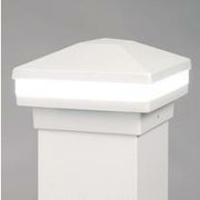 Dream White Halo Ring Lighted Cap, Stunning Post Cap, Beautiful Decorative Posts, DekPro Effex