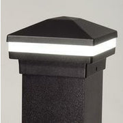 Absolute Black Halo Ring Lighted Cap, Stunning Post Cap, Beautiful Decorative Posts, DekPro Effex