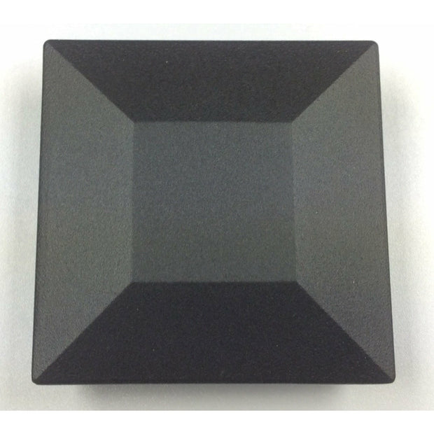 "Post cap, 3""x3"" Aluminum Post Cap, Post Caps, Black Sand, Pyramid Flat"