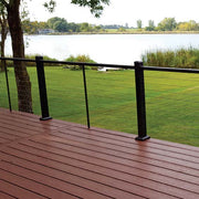Cable Railing by DekPro Prestige single top rail with baluster pickets