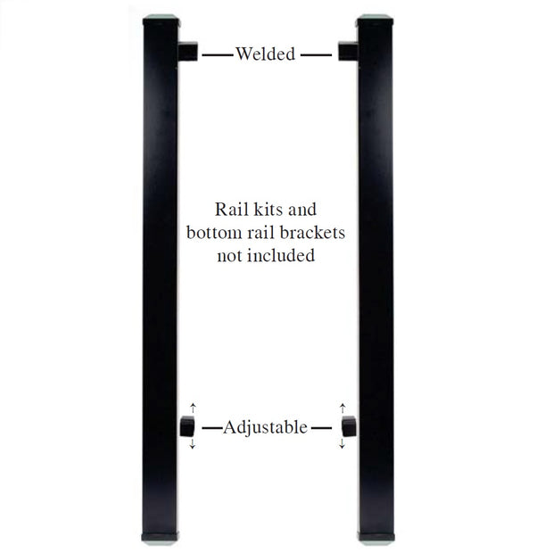 DekPro PRestige Gate Kit Posts with Brackets used with Prestige Rail for gates