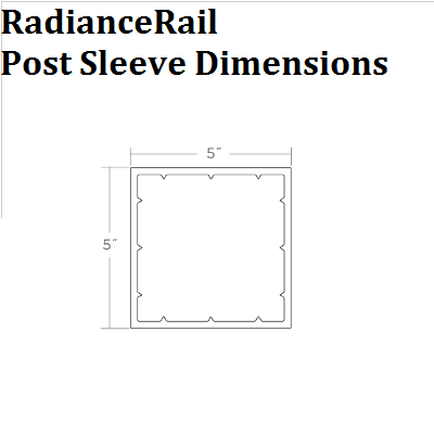 "TimberTech, RadianceRail -  5""x5"" - 42"" Post Cover"