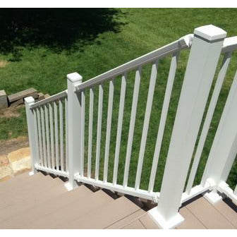 DekPro Prestige Star Railing in Dream White Aluminum Handrail