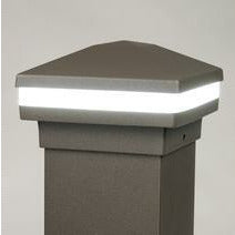 Cocoa Bronze Halo Ring Lighted Cap, Stunning Post Cap, Beautiful Decorative Posts, DekPro Effex
