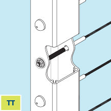 Feeney TT Threaded Terminal Post for level cable railing