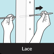 How to thread straight cable lacing needle lace through post