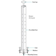 Feeney Cable Post Level QuickConnect use with Level Rail Kits