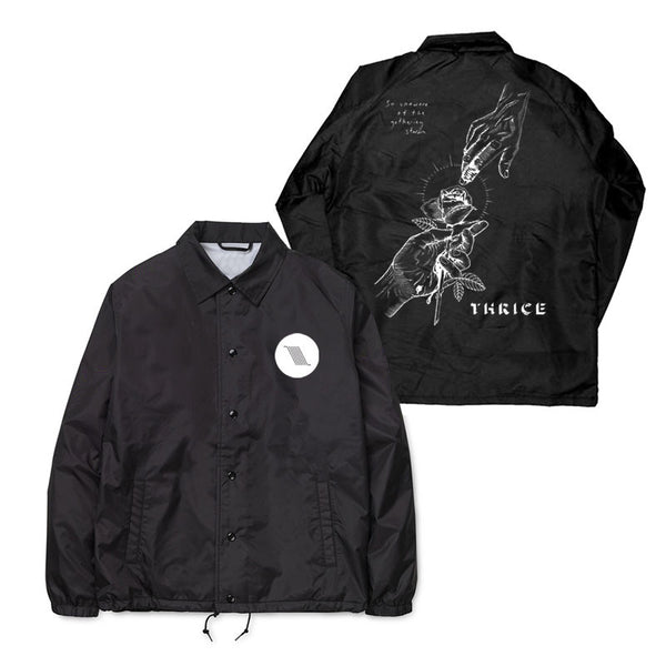 Hurricane Rose Black Coaches Jacket Thrice Official Merchandise Store