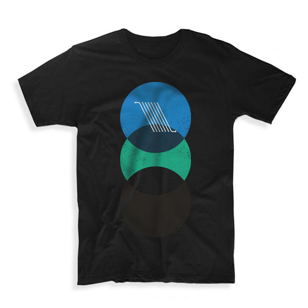 OVERLAYED BLACK  T-SHIRT