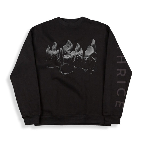 SEA WAVES BLACK LONGSLEEVE