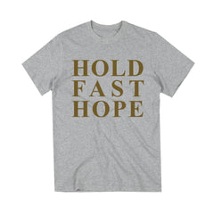 Hold Fast Hope Heather Grey Tee