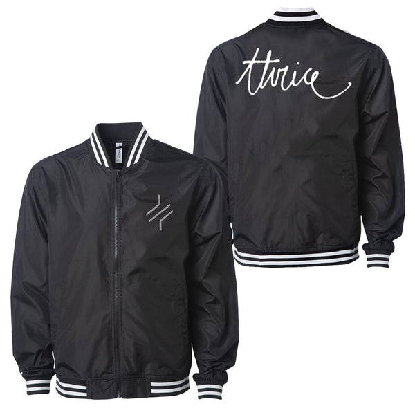 SCRIPT BARS COACHES JACKET