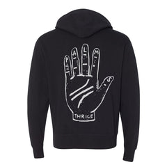 PALMS HAND BLACK FRENCH TERRY ZIP HOODIE