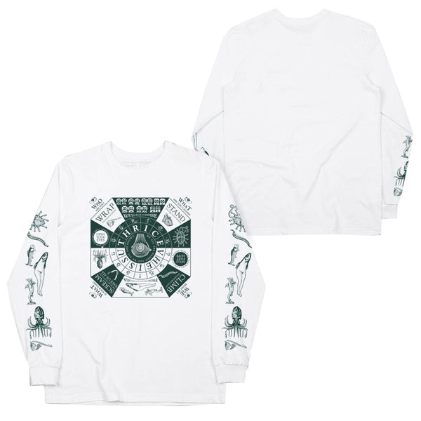 "Thrice ""Vheissu Cover"" White Long Sleeve Tee"