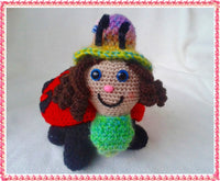 Marie Amigurumi Lady Bug crochet pattern from Puschi´s Product picture on http://thepatternfactory.net
