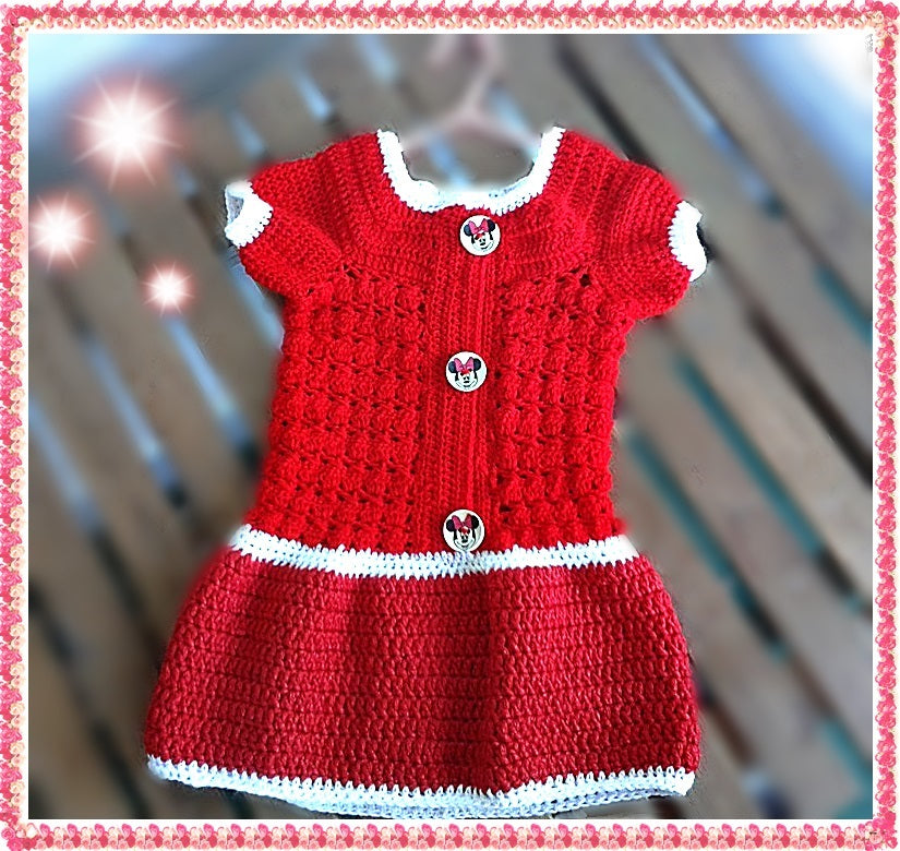 Children or Baby Dress crochet pattern from Puschi´s Product picture on http://thepatternfactory.net