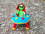 Alien with UFO from Puschi´s Product Picture of ThePatternFactory.net