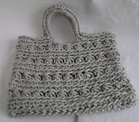 Shopper in ribbon yarn - lucygurumi - product picture