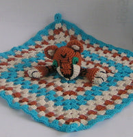 amigurumi crochet Pattern Snuggly blanket little tiger - lucygurumi - Product picture