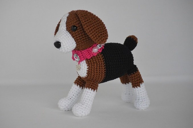 "Product picture Crochet Pattern Dog Friend ""Amigo"" by Die Maschentante at http://thepatternfactory.net"