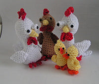 amigurumi crochet Pattern Chicken and Chicks - lucygurumi - Product picture