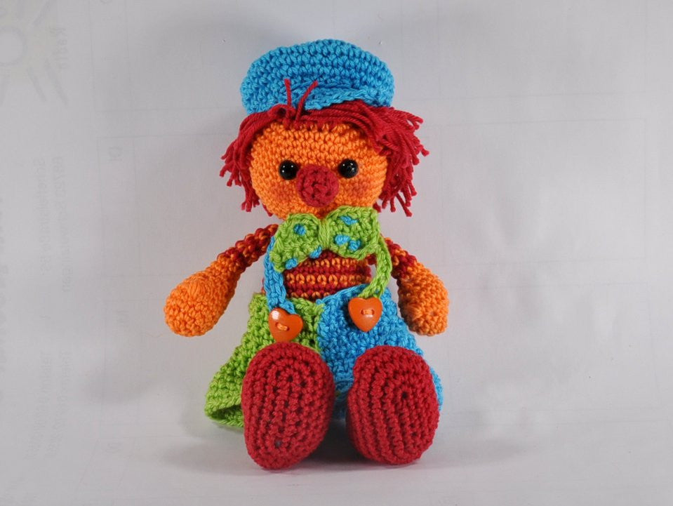 amigurumi crochet Pattern Clown Jonny - lucygurumi - Product picture