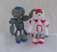 amigurumi crochet Pattern Robot´s Harry and Sally - lucygurumi - Product picture