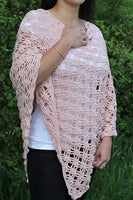 Product picture light poncho with easy stitches by Maschen mit Liebe at http://thepatternfactory.net