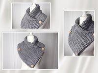 Product picture shawl collar with stars by Maschen mit Liebe at http://thepatternfactory.net