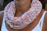 Product picture infinity scarf in pastel colors by Maschen mit Liebe at http://thepatternfactory.net