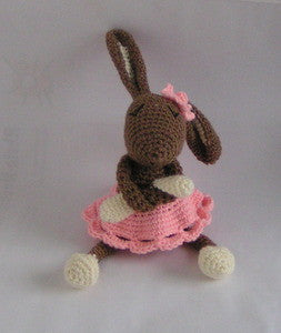 "Bunny Girl ""Amy"" Amigurumi crochet - Product picture - lucygurumi"