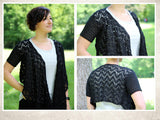 "Product picture bolero with shawl ""elegant lace"" by Maschen mit Liebe at http://thepatternfactory.net"