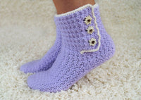 Product picture Crochet Pattern House Socks by LeaLeem at http://thepatternfactory.net