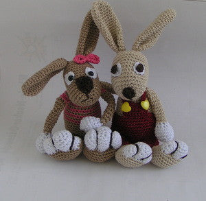amigurumi crochet pattern Bunny Frederik and Frederike - lucygurumi - Product picture