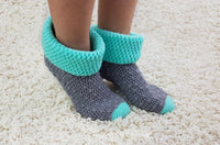 Product picture Crochet Pattern House Socks No.5 by LeaLeem at http://thepatternfactory.net