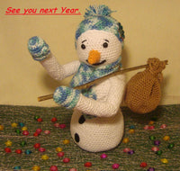 Amigurumi snowman Crochet pattern from Puschis Häkelparadies Product picture at http://thepatternfactory.net