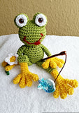 "Product pictures ""Ferdinand Frog"" Amigurumi Crochet Pattern by AramisvonK at http://thepatternfactory.net"