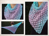 "Product picture triangular shawl ""ice flower"" by Maschen mit Liebe at http://thepatternfactory.net"