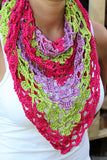 "Product picture triangular shawl ""Barbados"" by Maschen mit Liebe at http://thepatternfactory.net"
