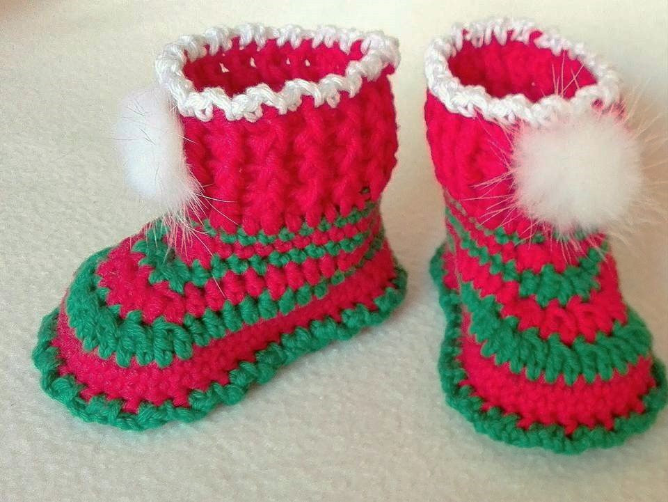 christmas boots crochet pattern from Puschi´s Product picture on http://thepatternfactory.net