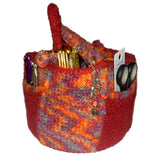 small hexagonal handcraft crochet basket, crochet and felted - Product picture - wollopus