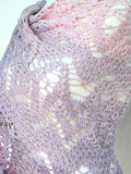 "Product picture triangular shawl ""magnificent flowers"" by Maschen mit Liebe at http://thepatternfactory.net"