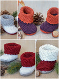 "Product Picture Baby Booties ""Anouk"", 0-6 months – Crochet Pattern at http://thepatternfactory.net"