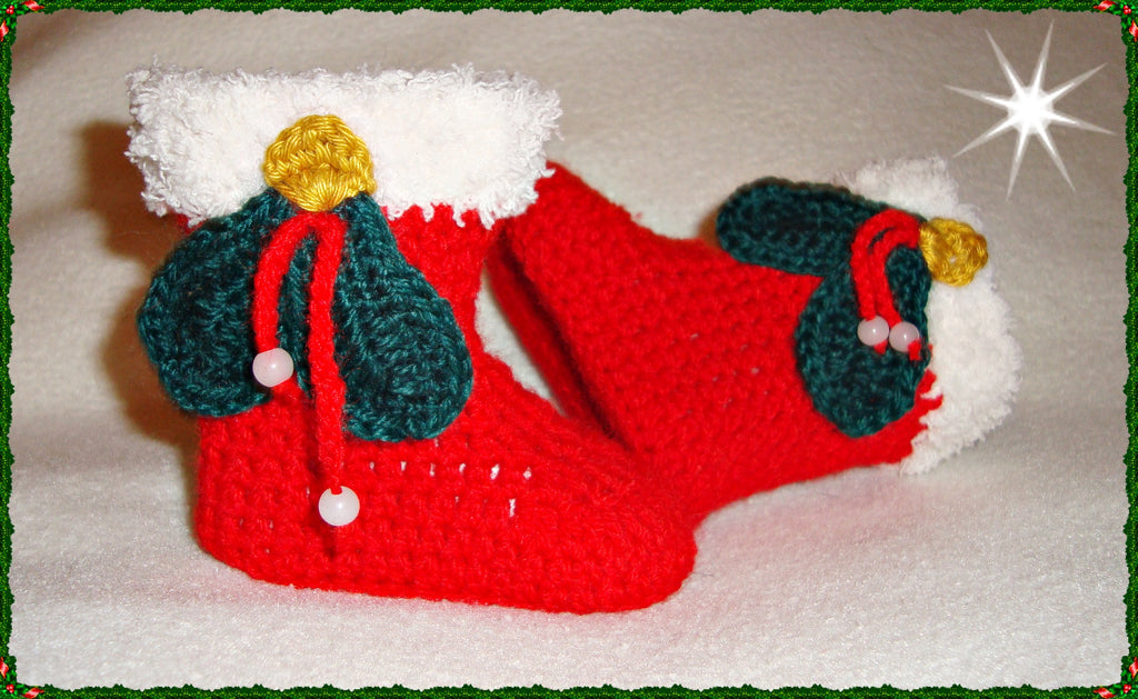 Christmas Baby Boots Crochet - Puschis Häkelparadies - Mandy Puschinski - Product picture