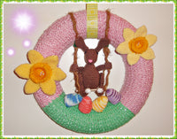 Easter Crest with Swinging Bunny – Crochet Pattern