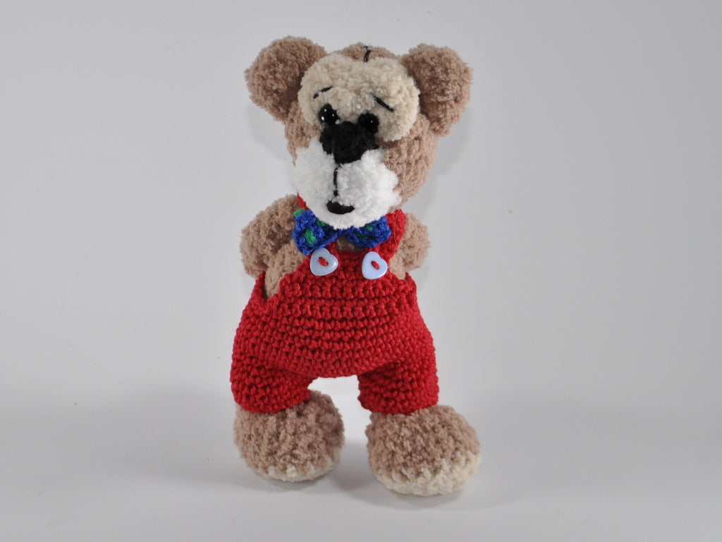 product picture crochet pattern Teddy Franz and Sepp by lucygurumi at http://thepatternfactory.net