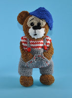 product picture Teddy Bertha and Bruno crochet pattern by lucygurumi at http://thepatternfactory.net