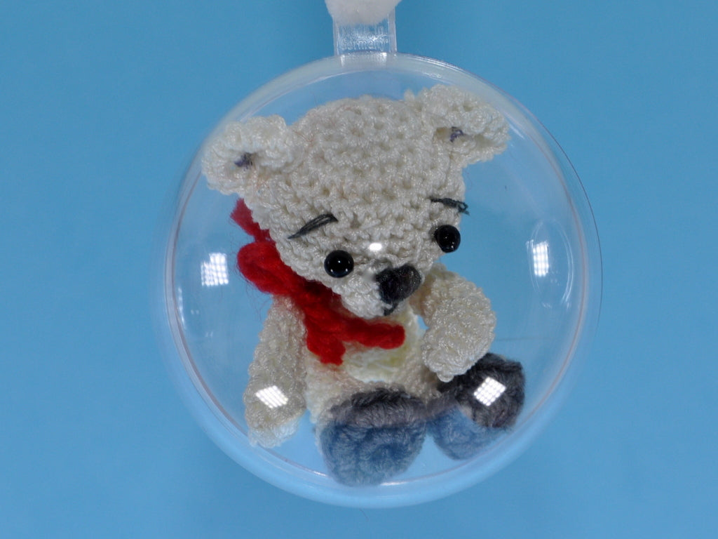 Teddy, Penguin, Elephant and Snowman in the ball – Crochet Pattern