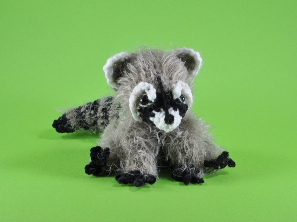 Product picture Raccoon Wayne  crochet pattern by lucygurumi at http://thepatternfactory.net